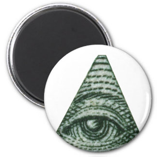 The All Seeing Eye 2 Inch Round Magnet