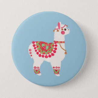 The Alpaca 3 Inch Round Button