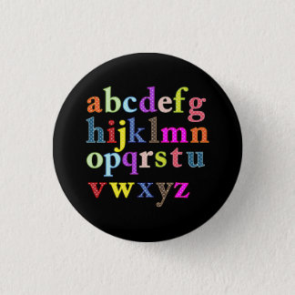 The Alphabet 1 Inch Round Button