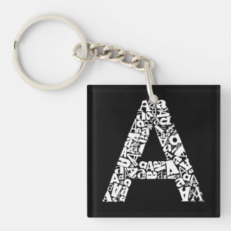 The Alphabet Letter A Keychain
