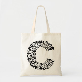 The Alphabet Letter C Tote Bag