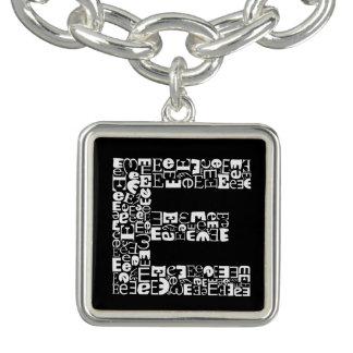 The Alphabet Letter E Charm Bracelets