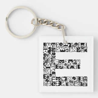 The Alphabet Letter E Keychain