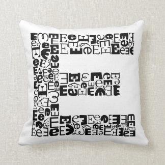 The Alphabet Letter E Throw Pillow