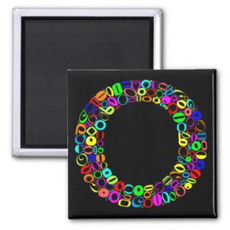 The Alphabet Letter O Square Magnet
