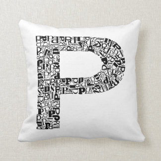 The Alphabet Letter P Throw Pillow