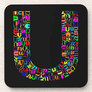 The Alphabet Letter U Beverage Coaster