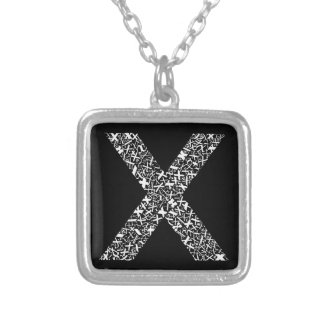 The Alphabet Letter X Silver Plated Necklace