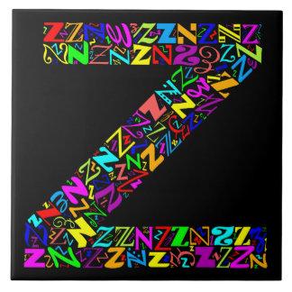 The Alphabet Letter Z Tile