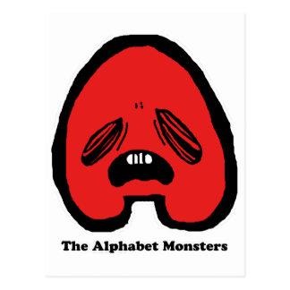 The Alphabet Monsters - A- Postcard
