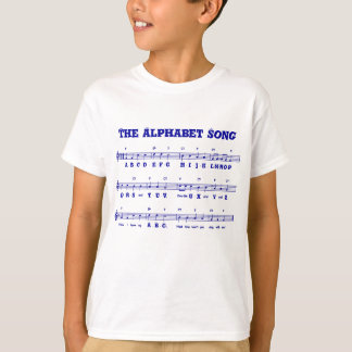 The Alphabet Song (ABCD's) Kid's T-Shirt