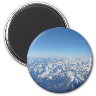 The Alps 2 Inch Round Magnet