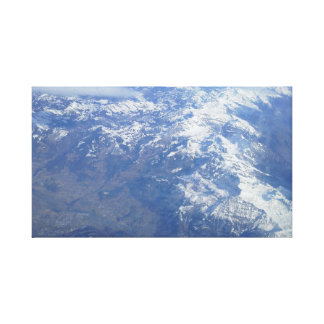 The Alps From The Air Canvas Print