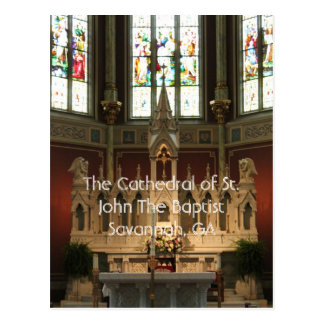 The Altar of The Cathedral of St. John The Baptist Postcard