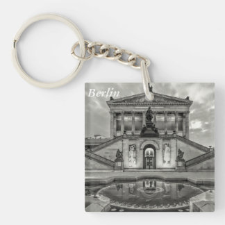 The Alte Nationalgalerie in Berlin Single-Sided Square Acrylic Keychain