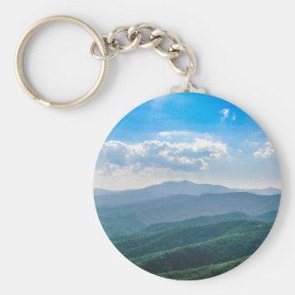 The Amazing Blue-Ridge Basic Round Button Keychain