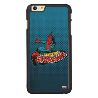 The Amazing Spider-Man Logo Carved Maple iPhone 6 Plus Case