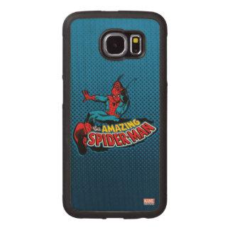 The Amazing Spider-Man Logo Wood Phone Case