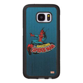 The Amazing Spider-Man Logo Wood Samsung Galaxy S7 Case