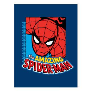 The Amazing Spider-Man Retro Comic Icon Postcard