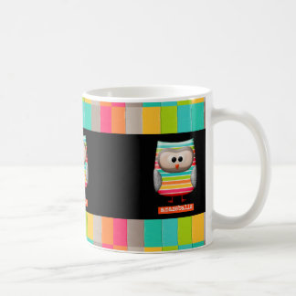 The Amazing Striped Amazeballs Owl Coffee Mug