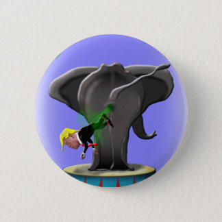the amazing trumping elephant 2 inch round button