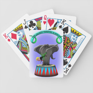 the amazing trumping elephant bicycle playing cards