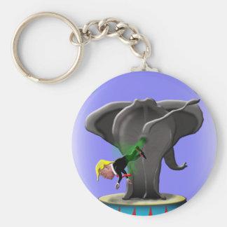 the amazing trumping elephant keychain