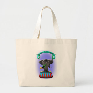 the amazing trumping elephant large tote bag