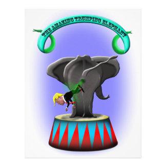 the amazing trumping elephant letterhead