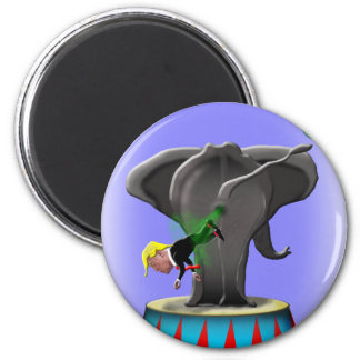 the amazing trumping elephant magnet