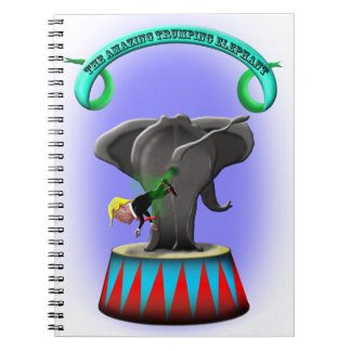 the amazing trumping elephant notebook