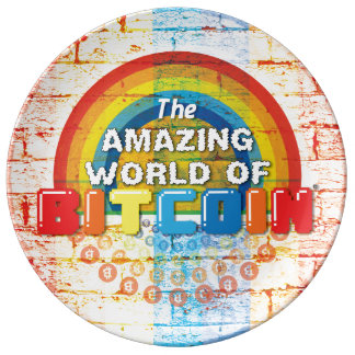 The Amazing World of Bitcoin Plate
