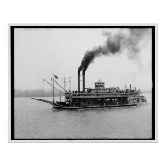 The America, Mississippi river boat, Miss. 1900-19 Poster