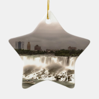 The American and Veil Falls Ceramic Ornament