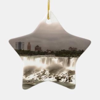 The American and Veil Falls Ceramic Star Ornament