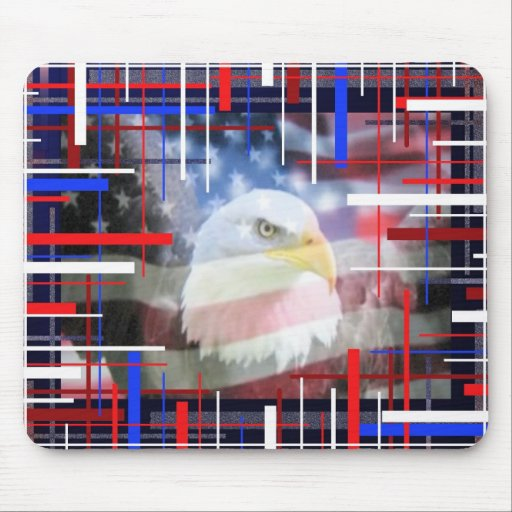 The American Eagle, red white and blue. Mousepads