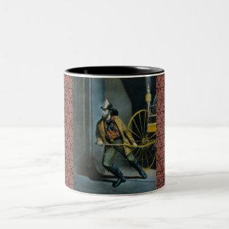 The American Fireman. Two-Tone Coffee Mug