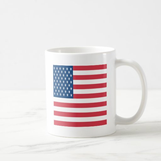 The American Flag On a White Background Mugs