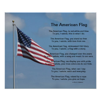 The American Flag Poem Poster