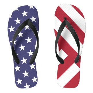 THE AMERICAN FLAG - UNITED STATES OF AMERICA FLIP FLOPS