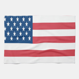 The American Flag With White Stars Kitchen Towel
