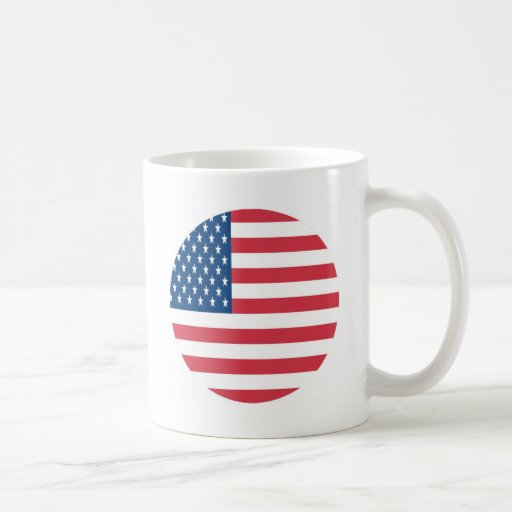 The American Flag With White Stars Mugs