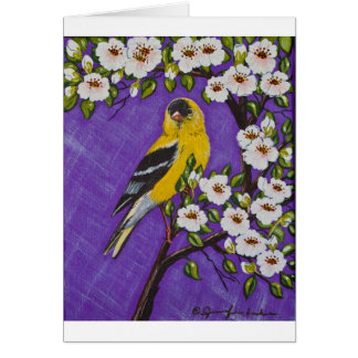 The American Goldfinch Greeting Card