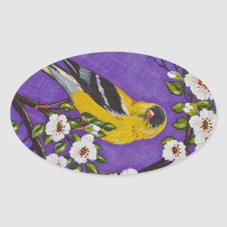 The American Goldfinch Oval Sticker