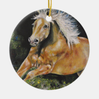 The American Mustang Ceramic Ornament