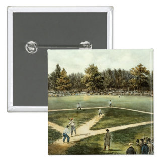 The American National Game of Baseball 2 Inch Square Button