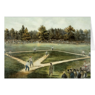 The American National Game of Baseball Greeting Card
