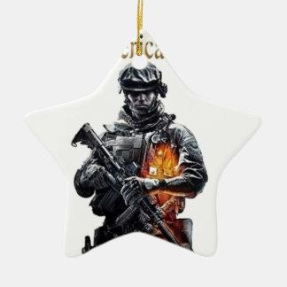 The American Patriot clothing line Ceramic Ornament