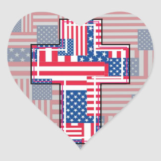 The American Religious Patriot. Heart Sticker